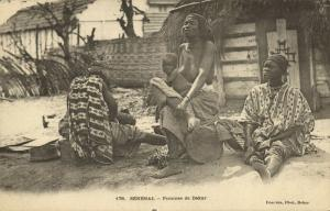 senegal, DAKAR, Young Girls with Baby Boy (1899)