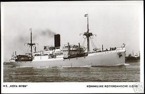 Royal Dutch Lloyd, M.S. Kota Inten (1940s) RPPC