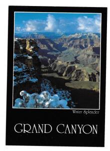 Grand Canyon Winter Splendor South Rim Vtg Postcard 4X6 AZ