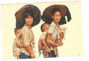 Children In Lama-Chow N. T., Puppy, Hong Kong, China,  1950-1970s