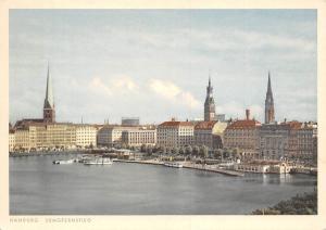 Hamburg Jungfernstieg Schif Boats Bateaux Panorama