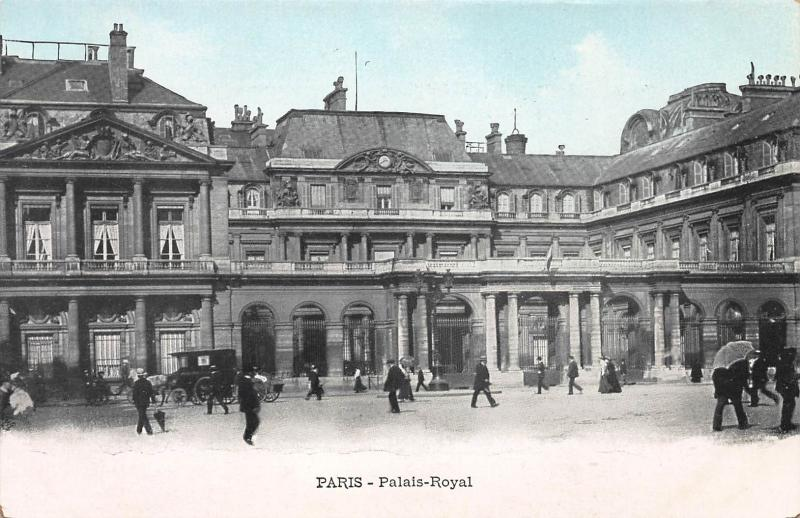 Royal Palace, Paris, France, Early Postcard, Unused