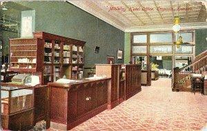 1910 Mit-Way Hotel Office Emporia KS Kansas Vintage Postcard Standard View Card