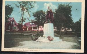 Colour Linen era PC Great War Memorial New Glasgow, N.S  used 1950