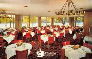 Richland Michigan Gull Harbor Inn Interior Vintage Postcard K38225