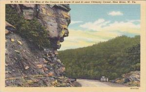 West Virginia New River The Old Man Of The Canyon On Route 19 And 21 Near Chi...