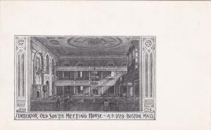 BOSTON , Massachusetts , 00-10s ; Interior Old South Meeting House