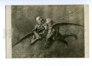146498 WWI Caricature KAISER WILHELM Devil by BOBROV Vintage