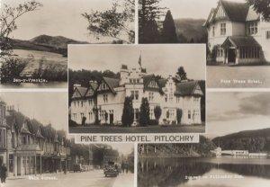 Pine Tree Hotel Pitlochry Bicycle Ben-y-Crackie Tariff Scottish Postcard