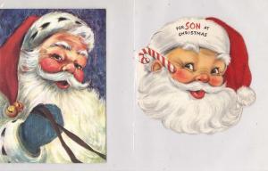 2 - Old Santa Cards