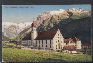 Switzerland Postcard - Engelberg, Kloster Gegen Titlis  HM343