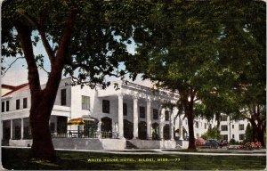 Biloxi MS White House Hotel Postcard unused 1930s/40s (6459)