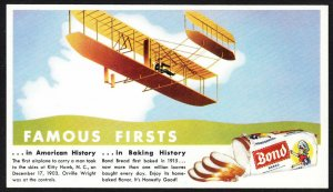 Bond Bread Famous Firsts blotter – Kitty Hawk