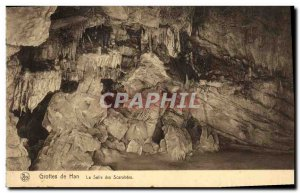 Old Postcard Cave Caves of Han The room beetles