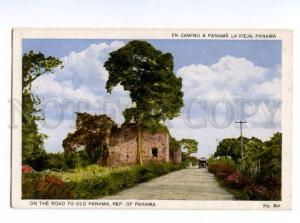 133050 PANAMA road to old Panama Vintage Maduro postcard