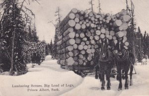 PRINCE ALBERT , Saskatchewan , Canada , 00-10s ; Big Load of Logs