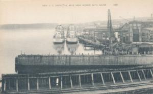 New U.S. Destroyer Ship at Bath Iron Works - Bath, Maine