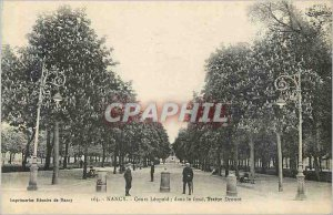 Postcard Old Course Nancy Leopold in the background Statue Drouot