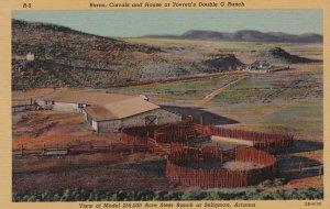 Arizona Seligman Tovrea's Double O Ranch Barns Corrals & House Curteich sk6692