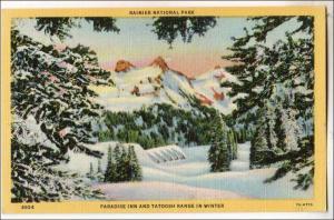 WA - Rainier National Park, Paradise Inn & Tatoosh Range