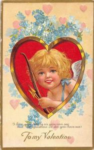 9219   Valentine, Cupid in a Heart, Bow and Arrow,