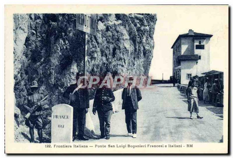 VINTAGE POSTCARD Customs Border italiana Gate San Luigi Boga