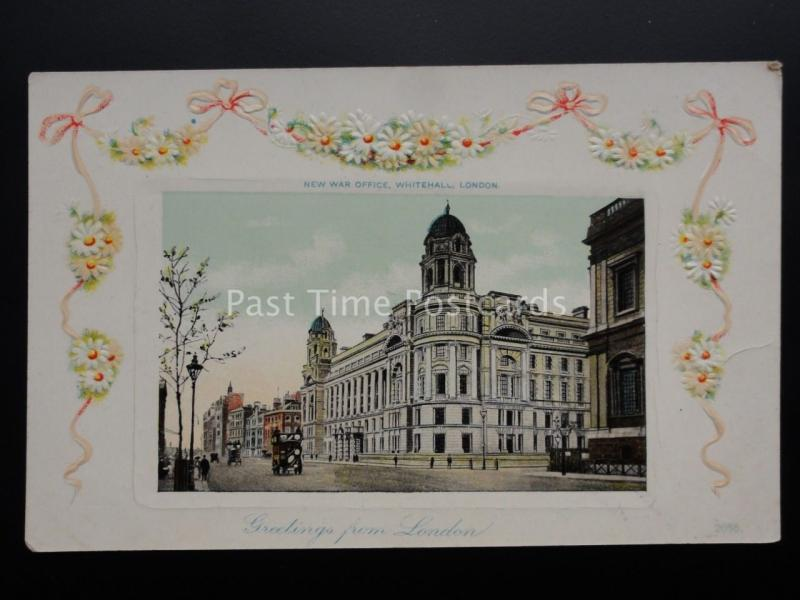London: WHITEHALL The New War Office - Old Postcard by Celoidchrom Series
