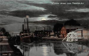 New Jersey Trenton at night,  State Street Lock