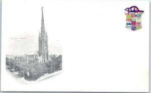 TORONTO Ontario Canada Postcard ST. JAMES CATHEDRAL w/ Coat of Arms 1900s Unused