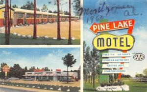 Montgomery Alabama~Pine Lake Motel~1940 Postcard