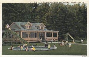 POCONO PINES, Pennsylvania, 1910-20s; The Laura Dahlen Playhouse, Lutherland