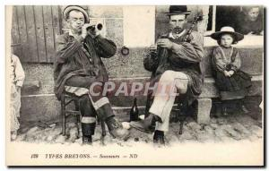Old Postcard Folklore Types Britons Sonneurs