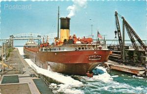 Steamship Steelton, Ore Carrier, Michigan, Sault Ste. Marie, Soo Locks,No 127630