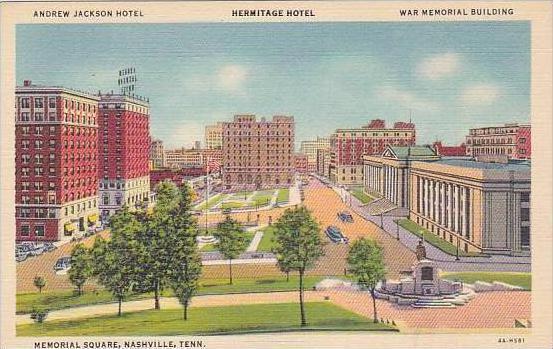 Tennessee Nashville Andrew Jackson Hotel Hermitage Hotel War Memorial Buildin...