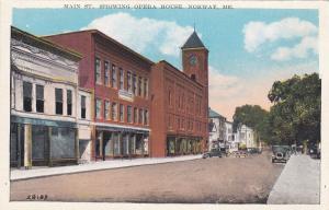 NORWAY , Maine , 1910s ; Main Street , Showing Opera House