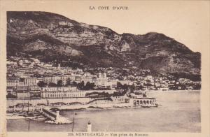 Monaco Monte Carlo Vue prise de Monaco