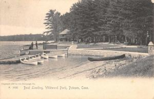 Putnam Connecticut Wildwood Park Boat Landing Antique Postcard K73316