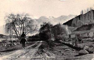 Camino en el Valle de Patrerillos Mendora Argentina Postal Used Unknown