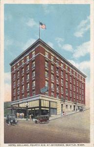 SEATTLE, Washington, 1900-1910´s; Hotel Holland, Classic Cars