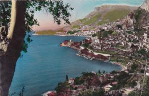 Maonaco Monte Carlo Vu de Roquebrune 1950