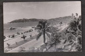 View Of Playa Hornos, Acapulco, Mexico - Real Photo - Unused 1950s
