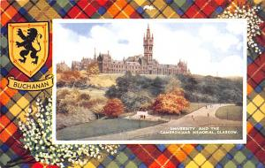 Scotland, UK Old Vintage Antique Post Card University and the Cameronians Mem...