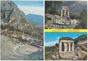 DELPHI - DELPHES, Greece, multi view, 1979 used Postcard