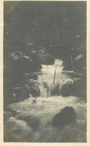 Belgian Congo real photo waterfall rapids