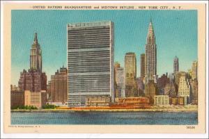 UN & Midtown Skyline NYC
