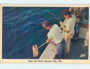 Unused Pre-1980 DEEP SEA FISHING Panama City Florida FL hn0627