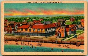 1940s Rehoboth Beach, Delaware Postcard SAINT AGNES BY THE SEA Beach View Linen