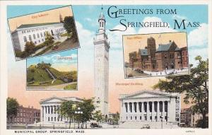 Massachusetts Springfield Greetings From Springfield
