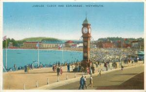 Jubilee Clock and Esplanade Weymouth UK