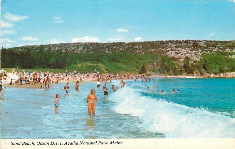 Bar Harbor Acadia National Park Maine Sand Beach Bathing Beauties 1960s